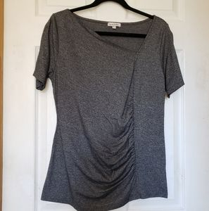 Rusched geometrical t shirt